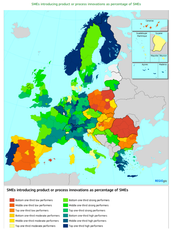 SMEs in Spain and Eastern bloc introduce fewer innovations than rest of Europe