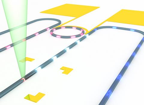 The researchers integrated artificial atoms (quantum dots) in silicon-based photonic chips